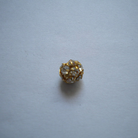 Pallina strass 8mm - oro (1pz)
