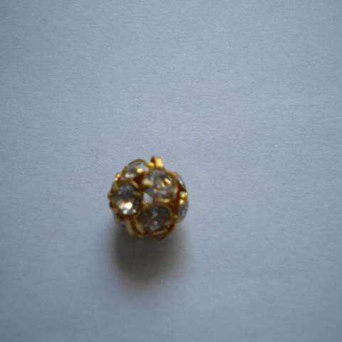 Pallina strass10mm - oro (1pz)