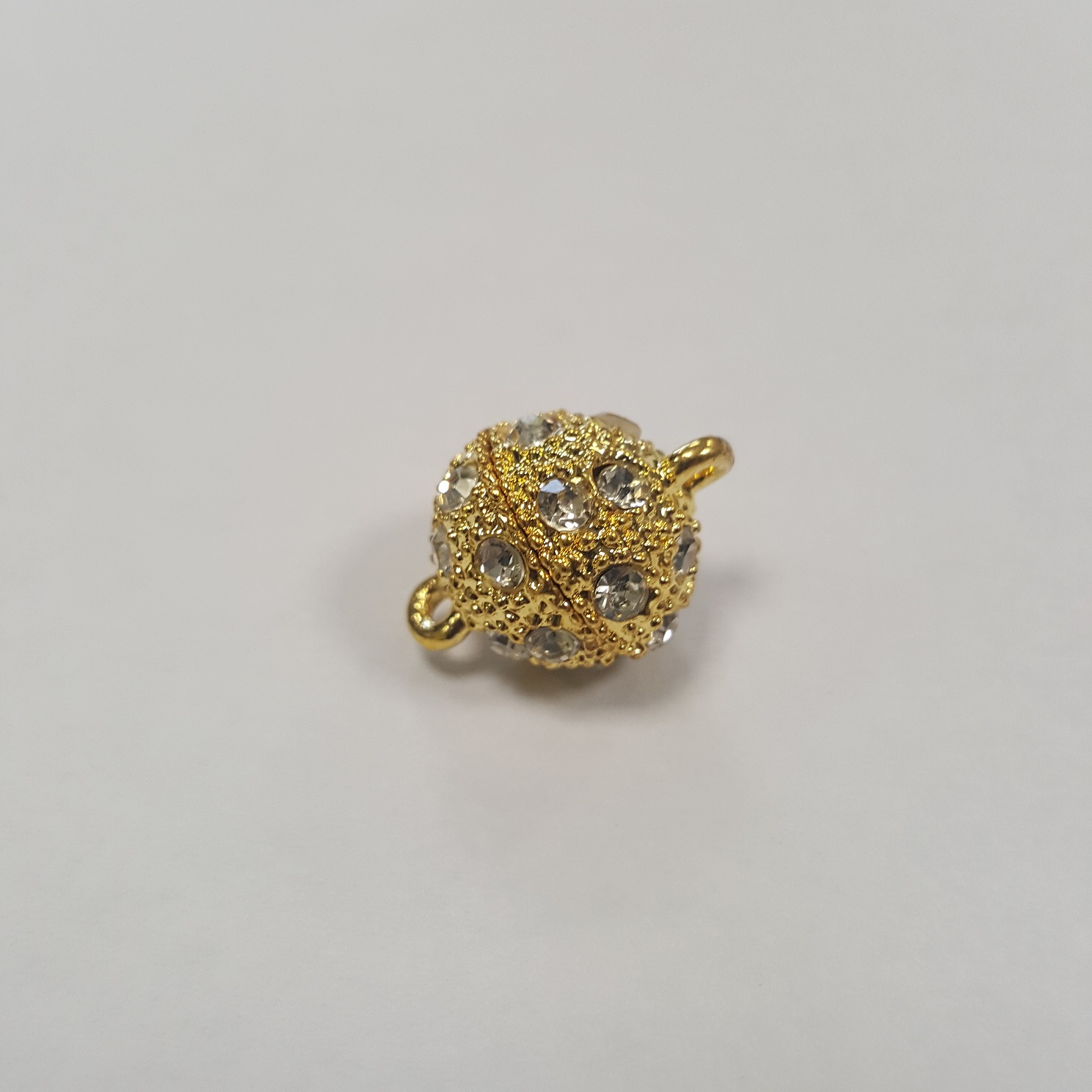 Calamita strass 10mm - oro (1pz)