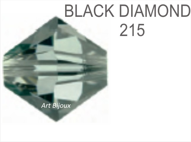Bicono 6 mm - Black Diamond