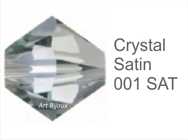 Bicono 6 mm - Crystal Satin