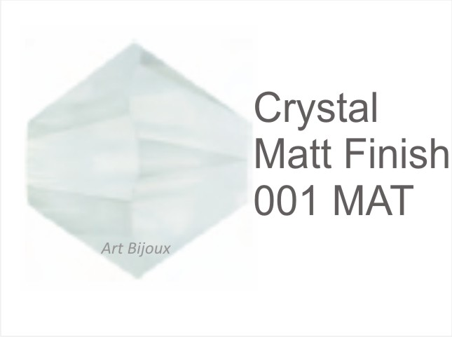 Bicono 6 mm - Crystal matt finish