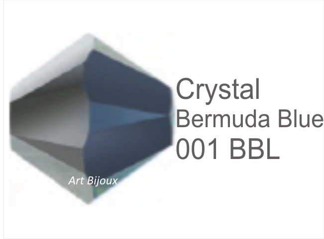 Bicono 6 mm - Crystal Bermuda Blue