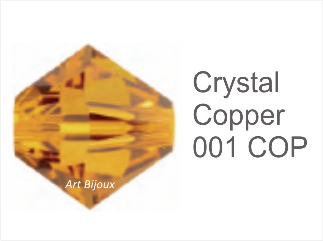 Bicono 6 mm - Crystal Copper