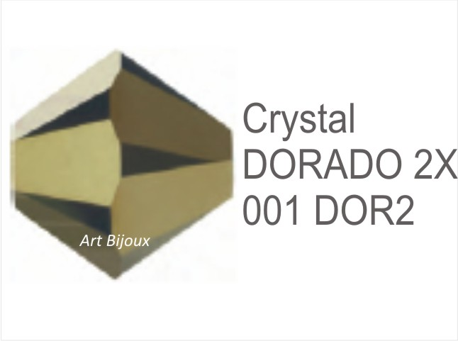 Bicono 6 mm - Crystal Dorado 2x