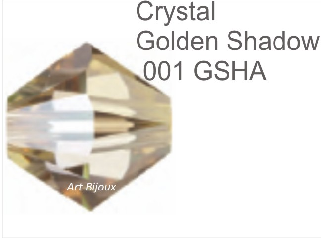 Bicono 4 mm - Crystal Golden Shadow (30 pz)