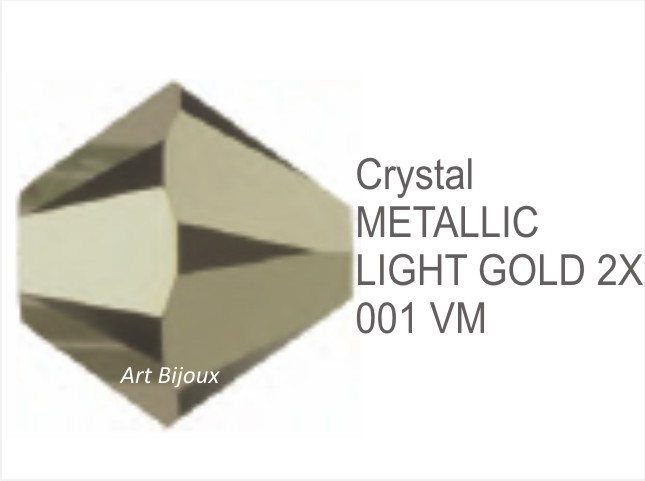 Bicono 6 mm - Crystal Metallic Light Gold 2x