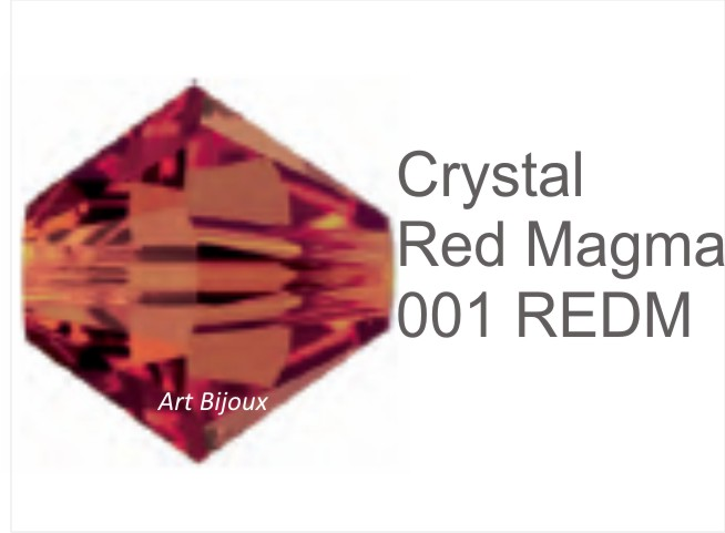 Bicono 6 mm - Crystal Red Magma