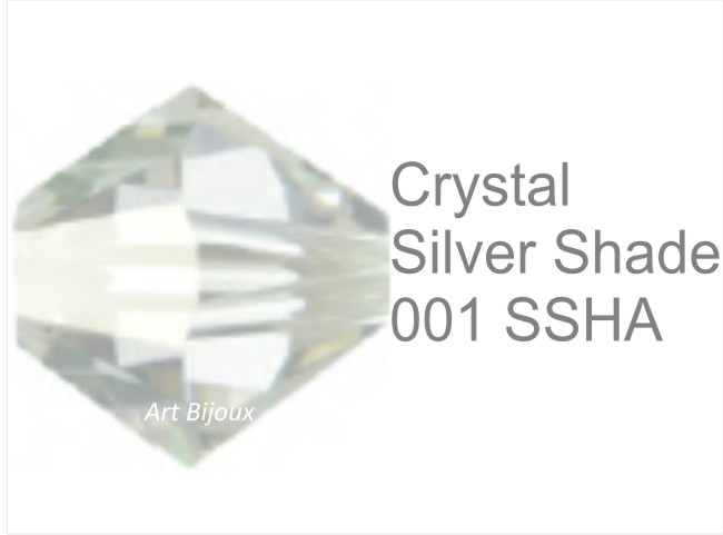 Bicono 6 mm - Crystal Silver Shade