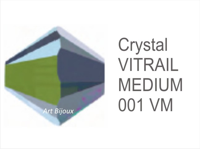 Bicono 6 mm - Crystal Vitrail Medium