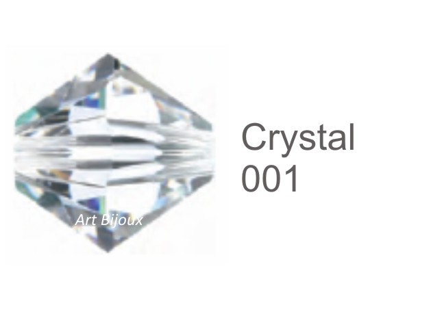 Bicono 6 mm - Crystal