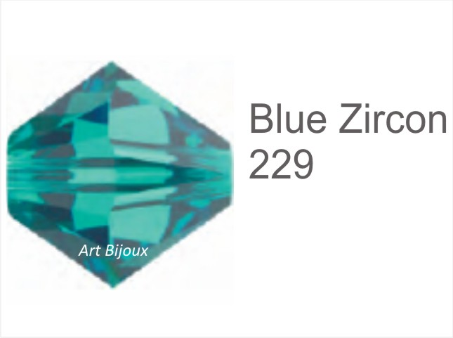 Bicono 6 mm - Blu Zircon