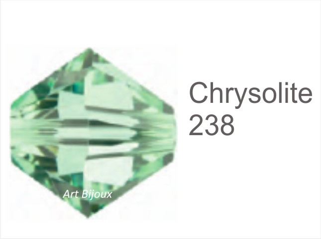 Bicono 6 mm - Chrysolite