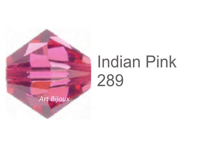 Bicono 6 mm - Indian Pink