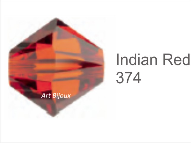 Bicono 6 mm - Indian Red