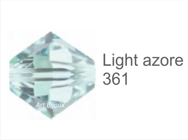 Bicono 6 mm - Light Azore