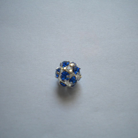 Pallina strass 8mm - blu scuro (1pz)
